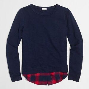 J Crew Factory Shirttail Hem Navy Sweatshirt Med